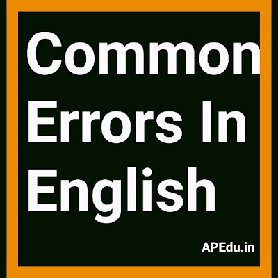 Common_Errors In English