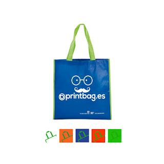 Bolsas recicladas baratas azules