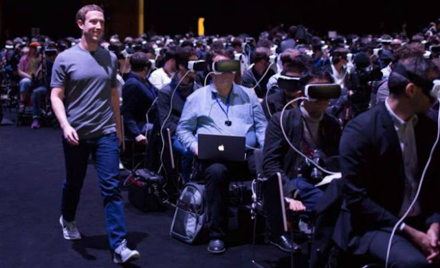 The photo of Mark Zuckerberg and virtual glasses going viral