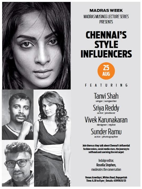 "Madras Week lecture on ""Chennai's Style Influencers"""