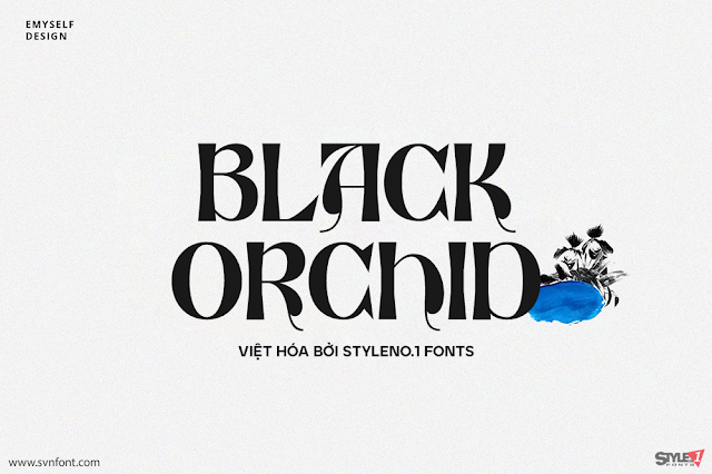 Download Fonts Tiếng việt Black Orchid