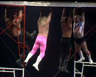 NWA Starrcade 1986 (The Skywalkers) - The Midnight Express and The Road Warriors in a scaffold match