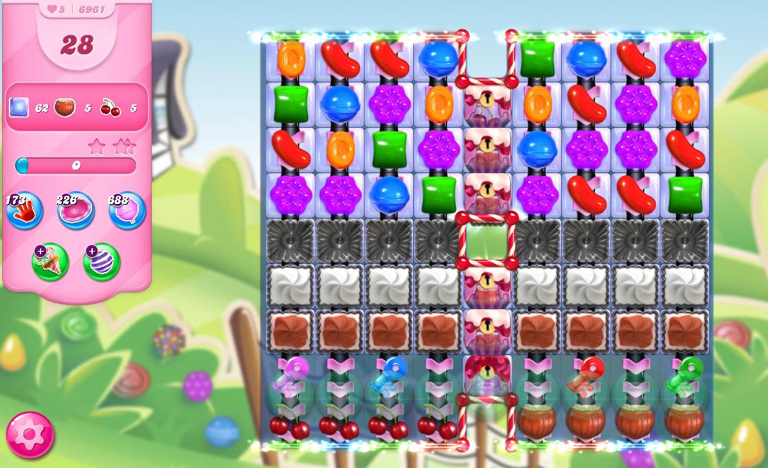 Candy Crush Saga level 6961