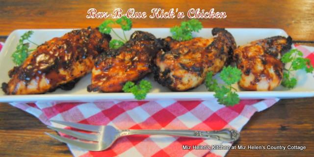 Bar-B-Que Kick'en Chicken at Miz Helen's Country Cottage