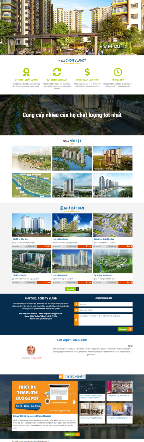 Real Estate Business Blogger Template Free Download