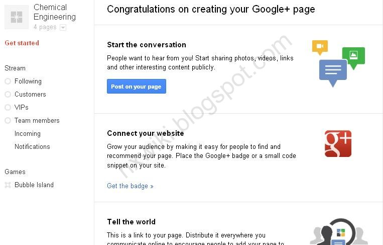 you can invite your friend to your new Google+ page.