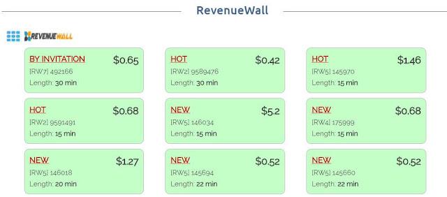 RevenueHut CPA network - RevenueWall offerwall