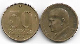 50 centavos, 1955