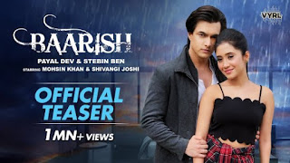 Baarish Lyrics Payal Dev x Stebin Ben
