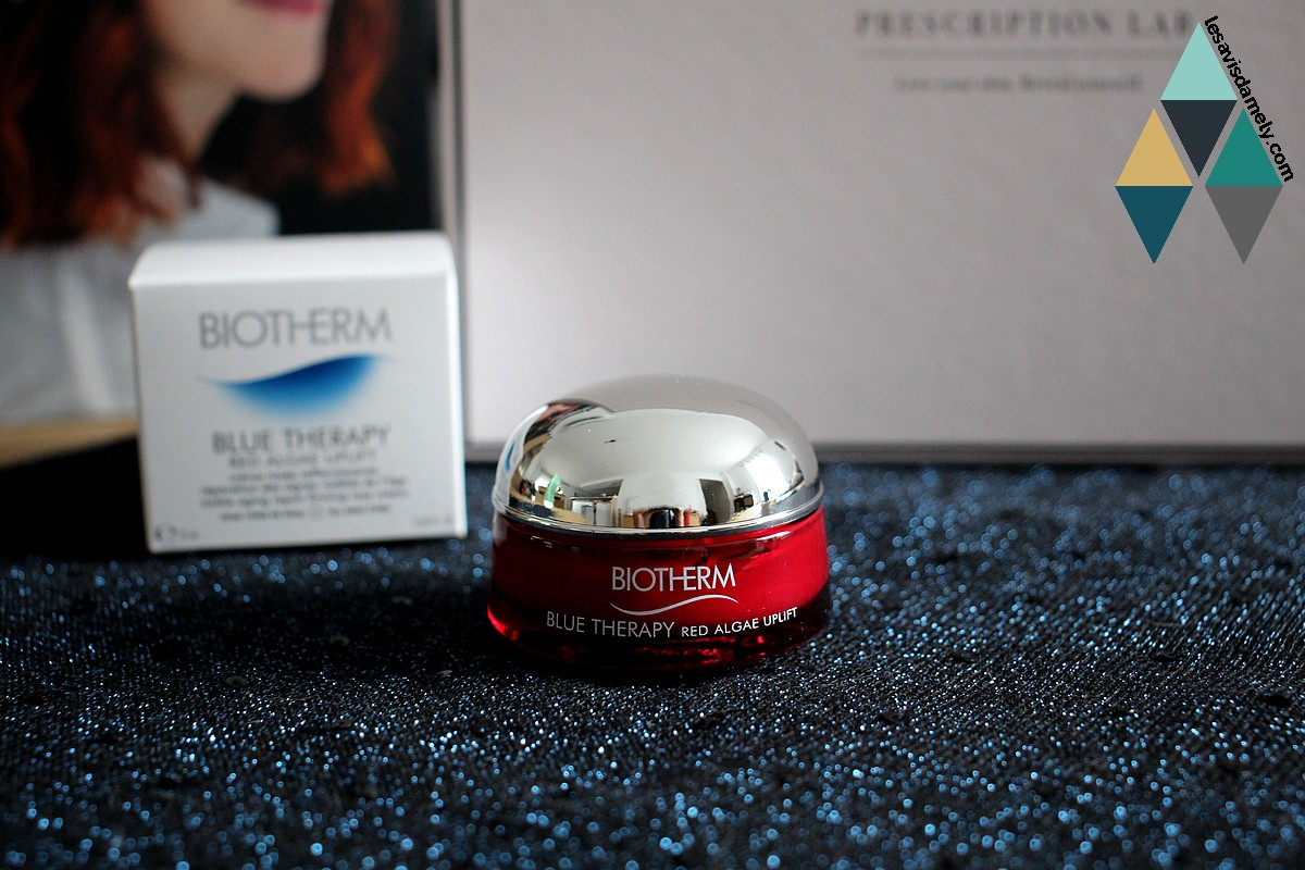 avis crème red algae uplift blue therapy biotherm soin liftant