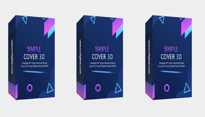 Simple Cover 3D Template By UlasanDigital