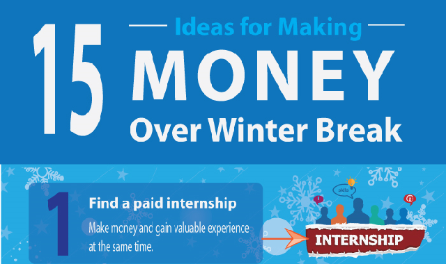 5 Ideas for Making Money During Winter Break #infographic