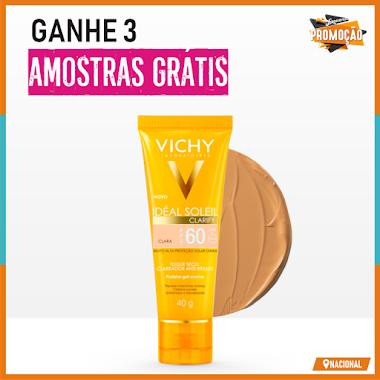 Amostras Grátis - Solicite 3 Amostras da Vichy
