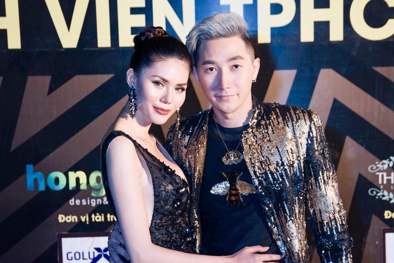 Siêu mẫu Nam Phong và Á hậu Kim Nguyên diện trang phục ấn tượng đi chấm thi