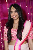 Adaa Sharma in White Pink Saree at Zee Telugu Apsara Awards 2017 22.JPG