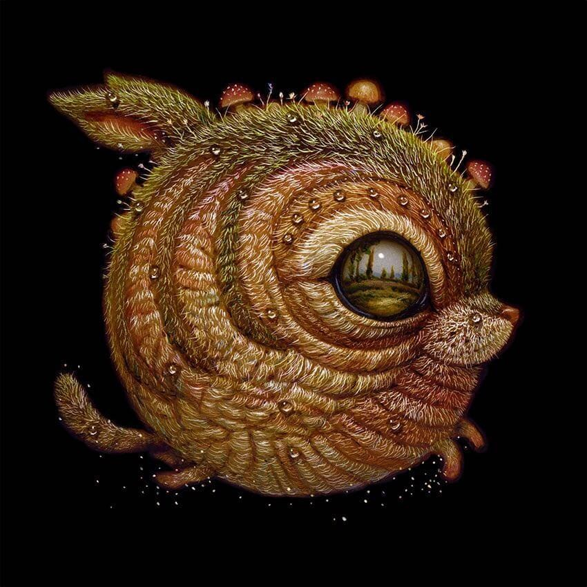 03-Sweet-tiny-ears-Surreal-Creature-www-designstack-co