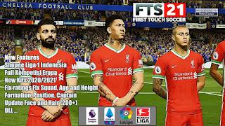 Download FTS 2021 Mod UEFA Champions League & Shopee Liga 1 Indonesia New Update Kits & Transfer 2020