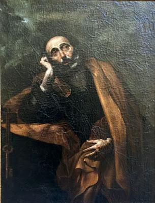 Fig. 1 - Jusepe de Ribera - San Pietro in lacrime - 127x97 - Lecce Collezione Terragno Centonze