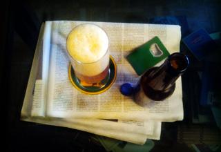 La cerveza en los periódicos