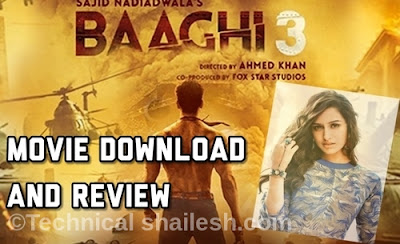 Baagi 3 Movie Download Trailer Review