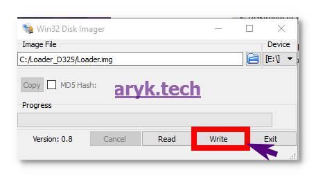 Write Flash Disk image