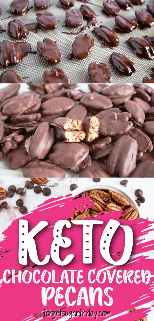 Keto Chocolate-Covered Pecans #KETO #DESSERT #LOWCARB #CHOCOLATE