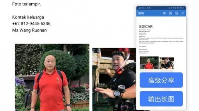 Beredar Sayembara, Bisa Temukan Penyelam China Dihadiahkan USD 50 Ribu