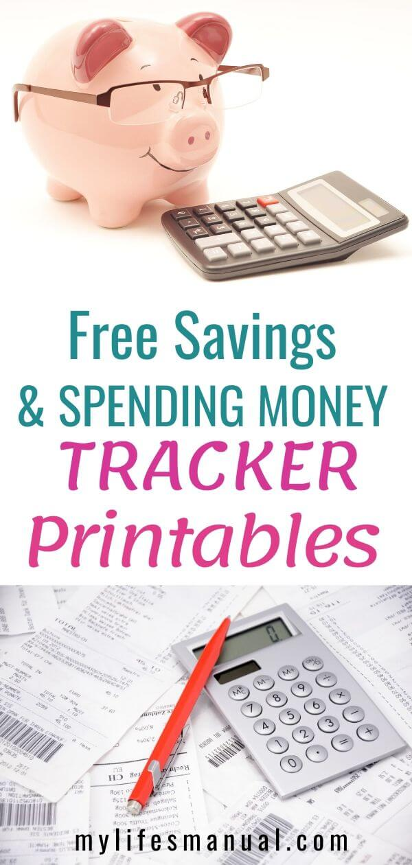 Free Saving Money and Spending Tracker Printables