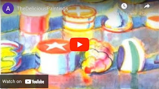 Photo from video of Wayne Thiebaud art sub lesson