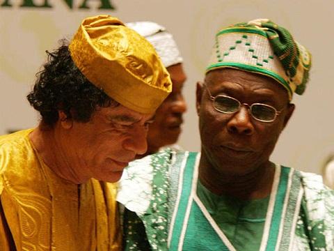 Image result for gaddafi helping obasanjo