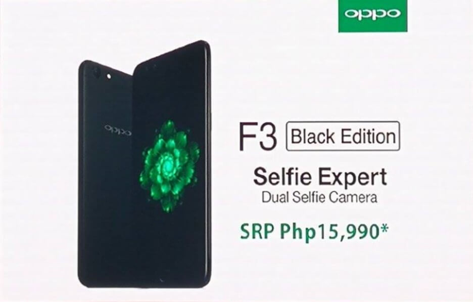 OPPO F3 Now Comes in Black Edition