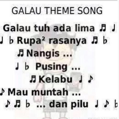 Kumpulan Meme Lucu Plesetan Lagu-lagu