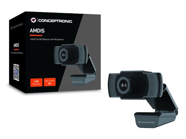 Teletrabalho em alta resolução a preço acessível com a nova webcam da Conceptronic