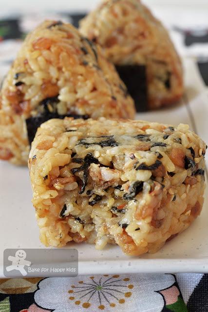 tenkasu okaka onigiri Japanese soy bonito rice balls