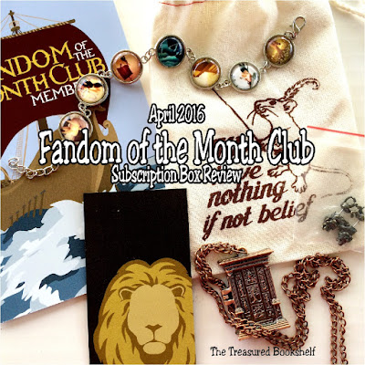 My April 2016 Review of the Fandom of the Month Club Subscription Box.  The Theme was Narnia with a great selection of jewelry and fandom collectibles to take your right into the wardrobe and back again.