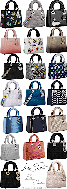 Dior Lady Dior Bag Collection #brilliantluxury
