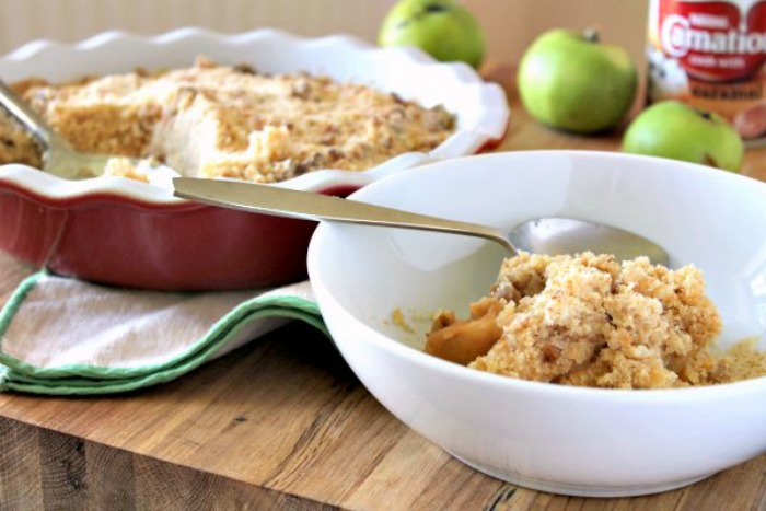 Apple, Caramel and Walnut Crumble