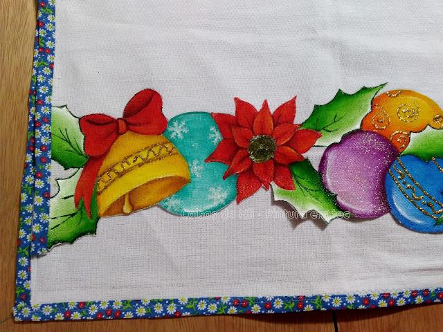 barrado natalino bolas sino e flor