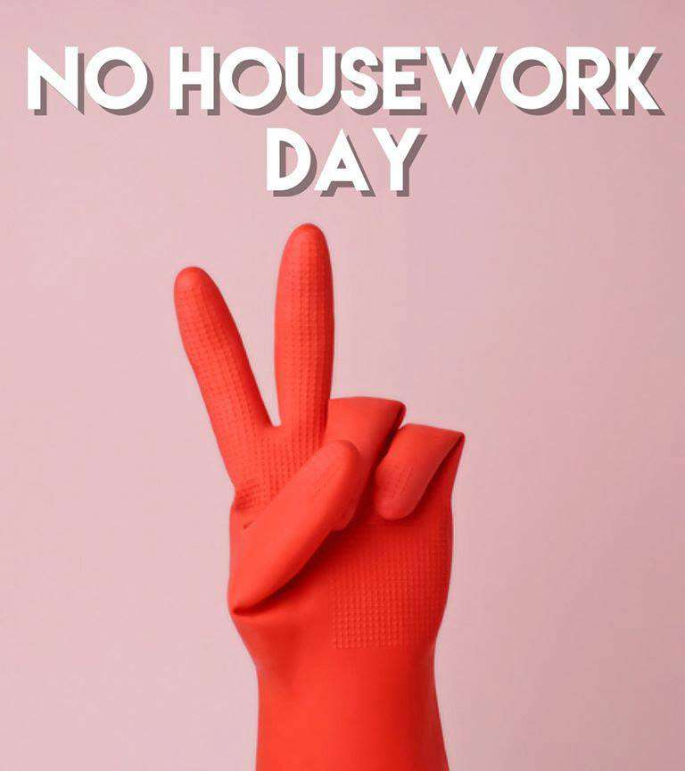 National No Housework Day Wishes for Instagram