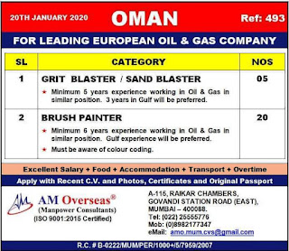 European Oil and Gas Company jobs in Oman