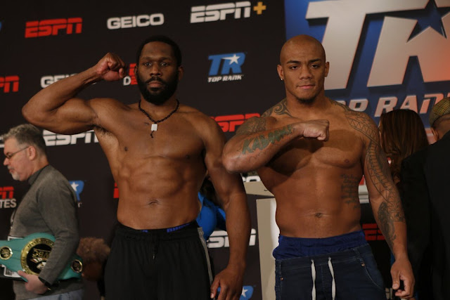Bryant Jennings and Oscar Rivas Weigh in and face off