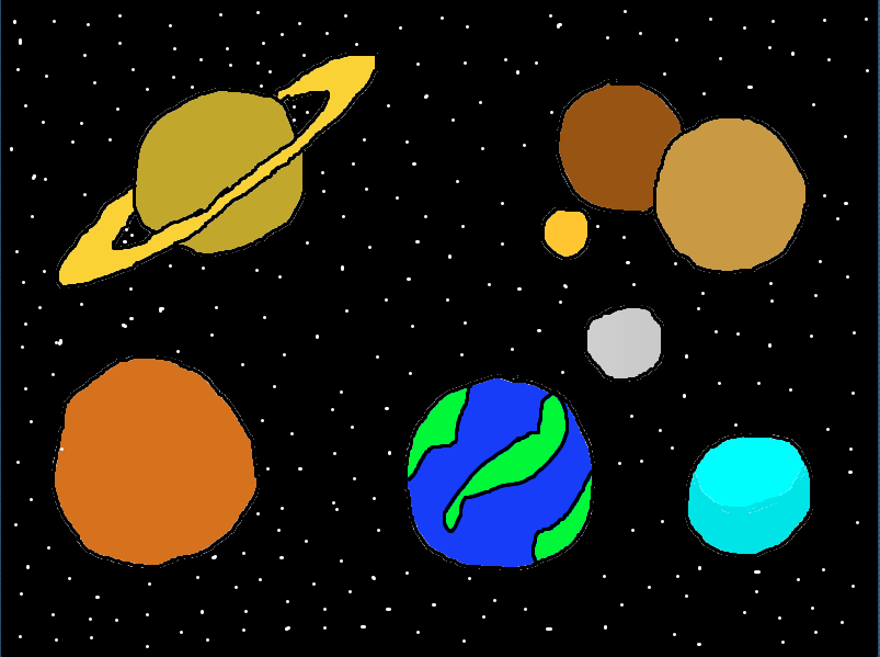 drawing of planets in solar system - photo #9