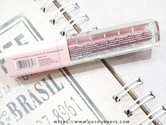 [Review] Fanbo Choco Rush Lip Cream All Shade