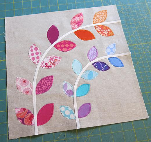Little Vines Quilt Free Pattern designed by Elizabeth Hartman of OhFransson,