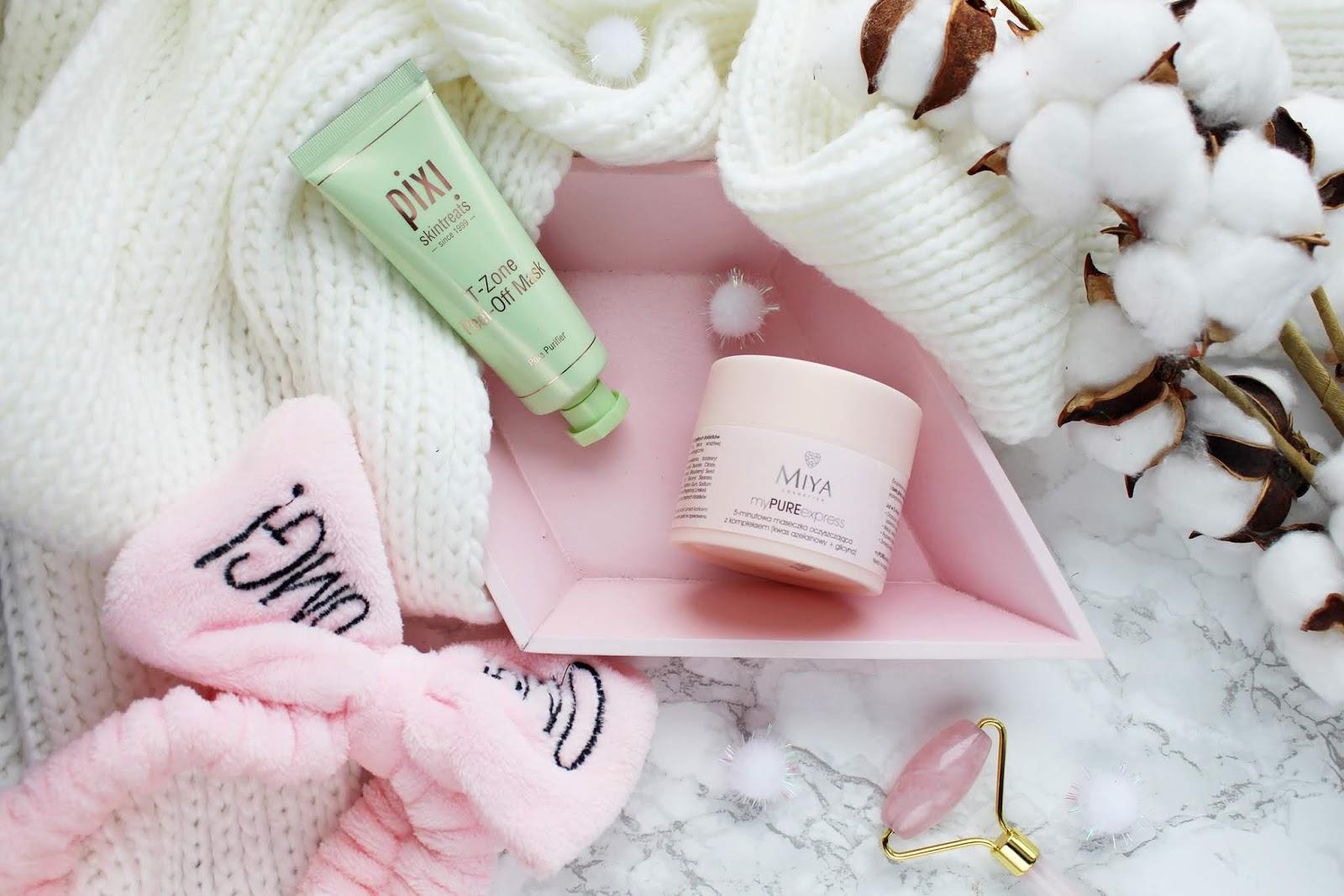 Maseczki oczyszczające | MIYA myPUREexpress, 5-minutowa maseczka oczyszczająca | Pixi T-zone Peel-Off Mask