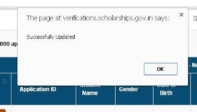Sucessfully Update of Minority Scholarship
