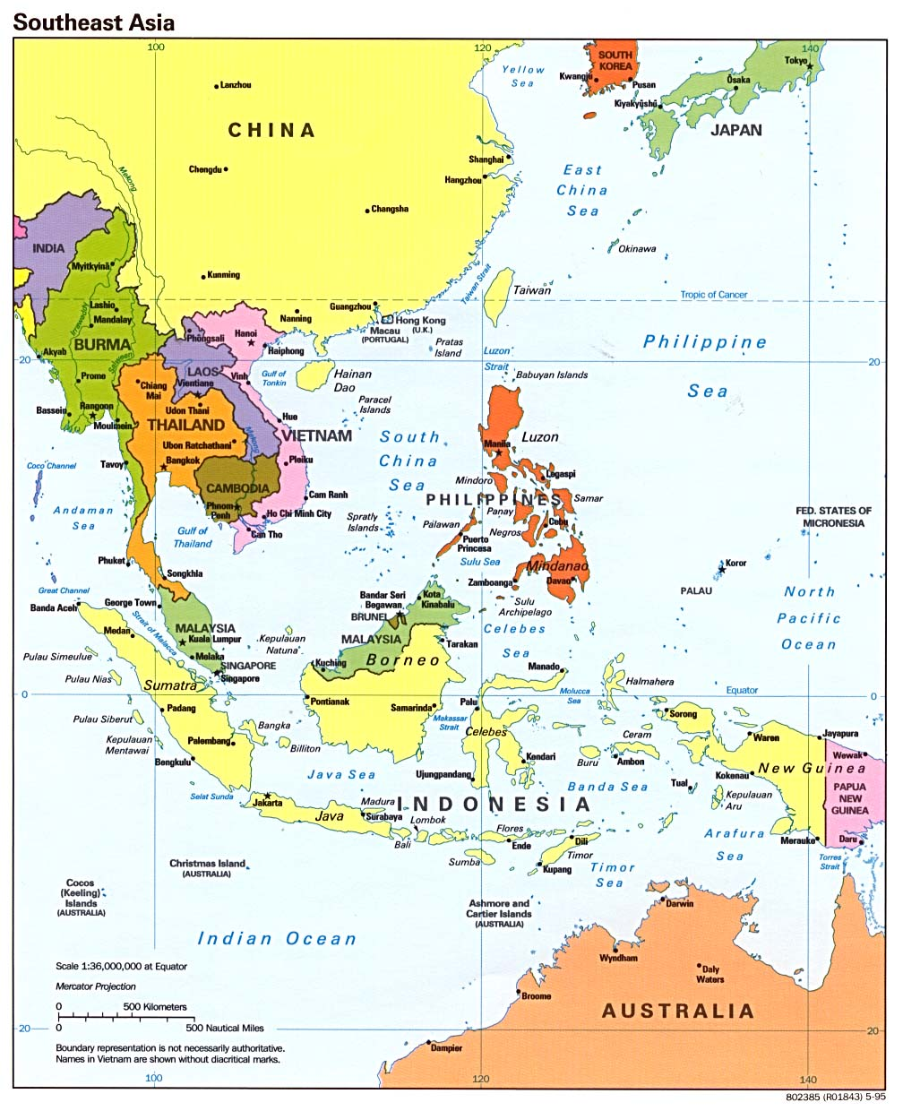 map of asia region