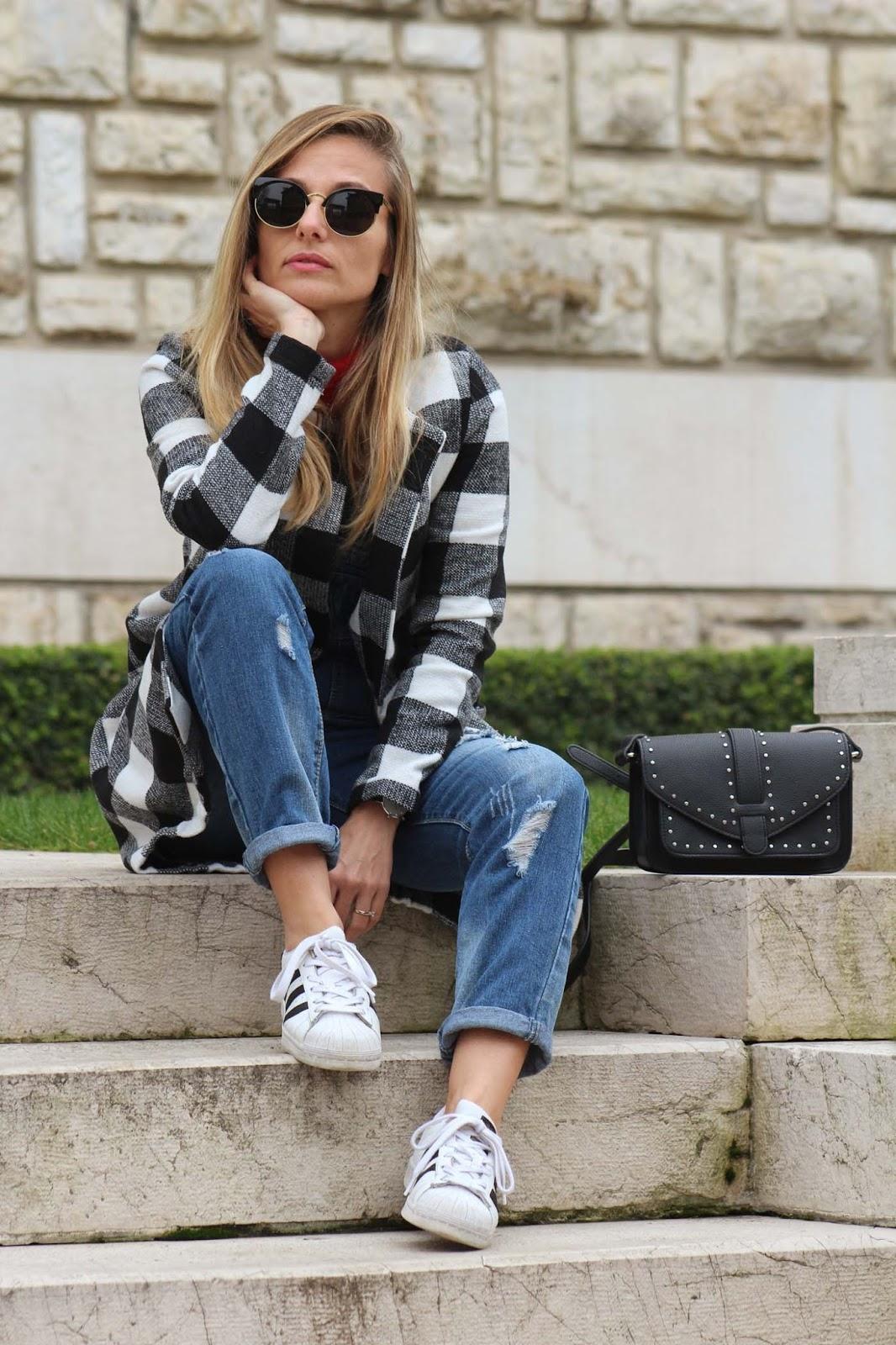 Eniwhere Fashion - Checked Coat Shein