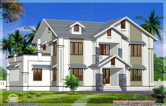 2600 square feet 4 bedroom kerala home design - May 2012