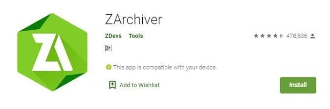 cara ekstrak file rar di android menggunakan zarchiver